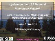 Partnerships - USA National Phenology Network