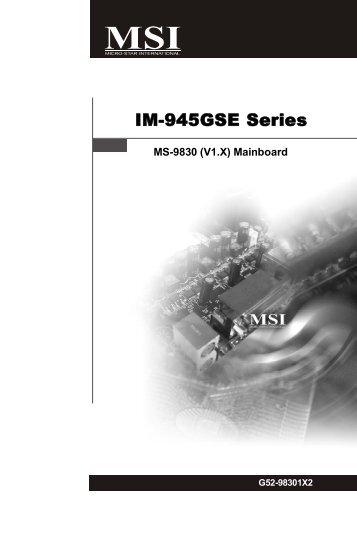 IM-945GSE Series - dr Beat(li)