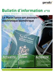 Bulletin d'information n°10 - Gemalto