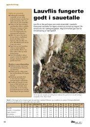 Lauflis fungerte godt i sauetalle - Fagbladet Økologisk Landbruk