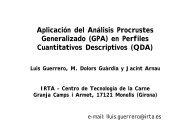 Aplicación del Análisis Procrustes Generalizado - CRESCA