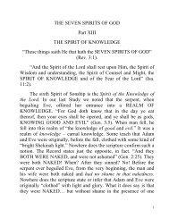 THE SEVEN SPIRITS OF GOD - Preach The Kingdom Network