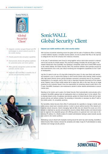 SonicWALL Global Security Client