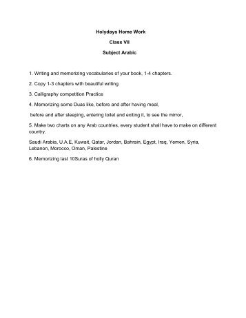 dps jaipur holiday homework for class 6
