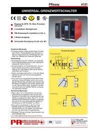 Datenblatt PReasy 4131 - Industrie-Schweiz