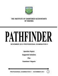pathfinder professional examination ii, november 2012