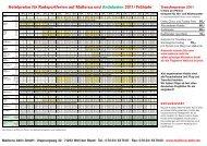Hotelpreise für Radsportferien auf Mallorca und Andalusien 2011 ...