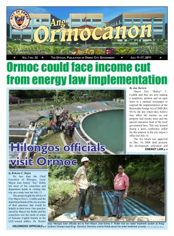 Ormoc could face income cut from energy law implementation ...