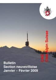 Janvier - février 2009 - CAS La Neuveville