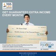 GET GUARANTEED EXTRA INCOME EVERY MONTH! - Max Life ...