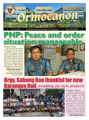 Peace and order situation manageable - City Government of Ormoc