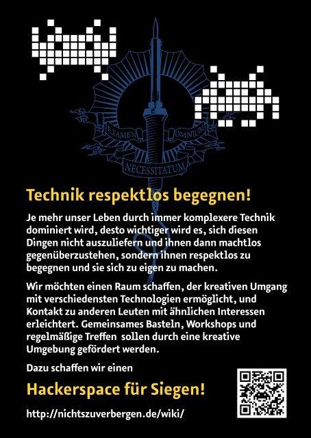 Hackerspace für Siegen!
