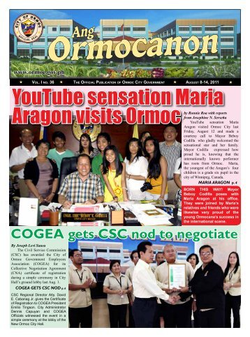 YouTube sensation Maria - City Government of Ormoc