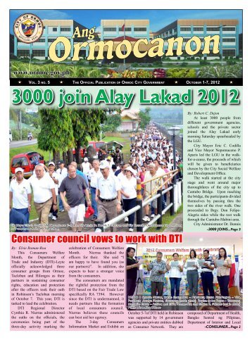3000 join Alay Lakad 2012 - City Government of Ormoc