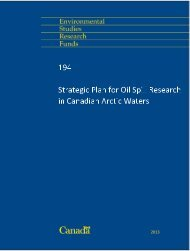 Strategic Plan for Oil Spill Research in Canadian Arctic Waters