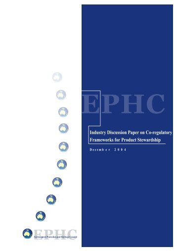 Industry Discussion Paper on Co-regulatory Frameworks for Product ...