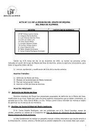 1 ACTA Nº 111 DE LA REUNIÓN DEL GRUPO DE MEJORA DEL ...