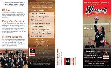 Brochure - East Stroudsburg University