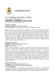 TEATRO AL CHIOSTRO - prima parte