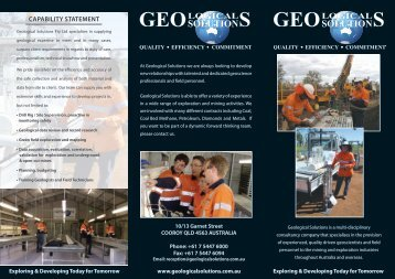 CAPABILITY STATEMENT - Geological Solutions