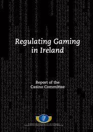Regulating Gaming in Ireland - The Department of Justice and Equality