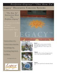 Instruction Sheet (PDF/2MB) - Legacy Decorative Concrete Systems ...