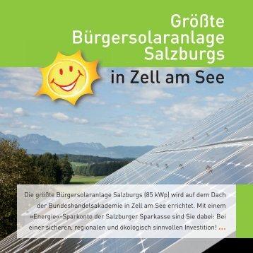 Größte Bürgersolaranlage Salzburgs in Zell am See - bei der AEE ...