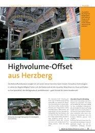 Highvolume-Offset aus Herzberg - Allner Communication