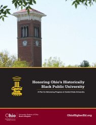 Honoring Ohio's Historically Black Public University: A Plan for ...
