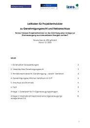 Leitfaden Genehmigung und Netzanschluss zum Download - IZES