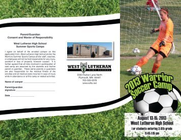 Soccer Camp - West Lutheran High School