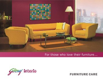 Care for Sofa - Godrej Interio