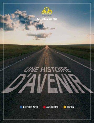 Rapport annuel complet en pdf - D'Ieteren Annual Report 2010