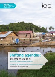 Shifting agendas: response to resilience - London School of ...