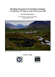 Herding Structures in Northern Iceland - Nabo