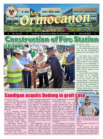Construction of Fire Station starts - City Government of Ormoc