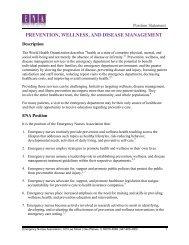 EMERGENCY NURSES ASSOCIATION POSITION STATEMENT ...