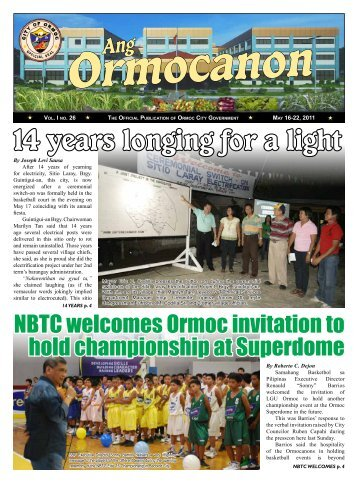 14 years longing for a light - City Government of Ormoc
