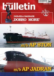 Prosinac 2012. - Atlantska plovidba d.d.