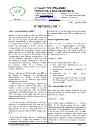 UHFs Nyhetsbrev nr. 4 - UHF-Oslo