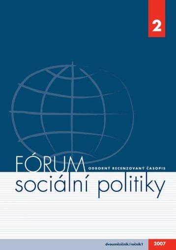 dvouměsíčník/ročník1 - Výzkumný ústav práce a sociálních věcí
