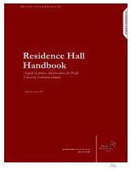 Residence Hall Handbook - Pacific University