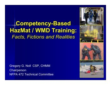Competency-Based HazMat / WMD Training: - Livonia Professional ...
