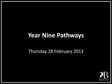Year Nine Pathways Parents 2013 - Bohunt School