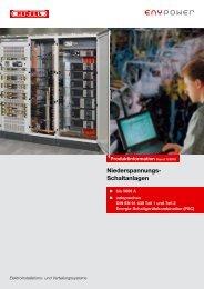 Produktinformation Niederspannungs-Schaltanlagen - Hensel