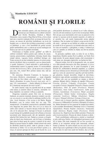 Românii și florile