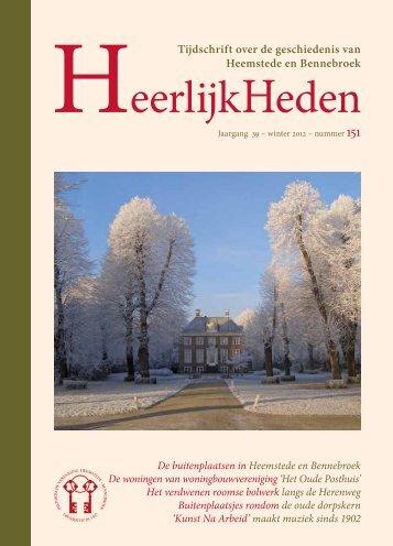 Tijdschrift over de geschiedenis van Heemstede en Bennebroek