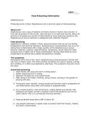 Food Poisoning Information - Staphylococcus - Robe