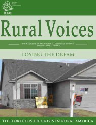 LOSING THE DREAM - Housing Assistance Council