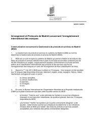 Communication concernant le Gestionnaire de produits et ... - WIPO